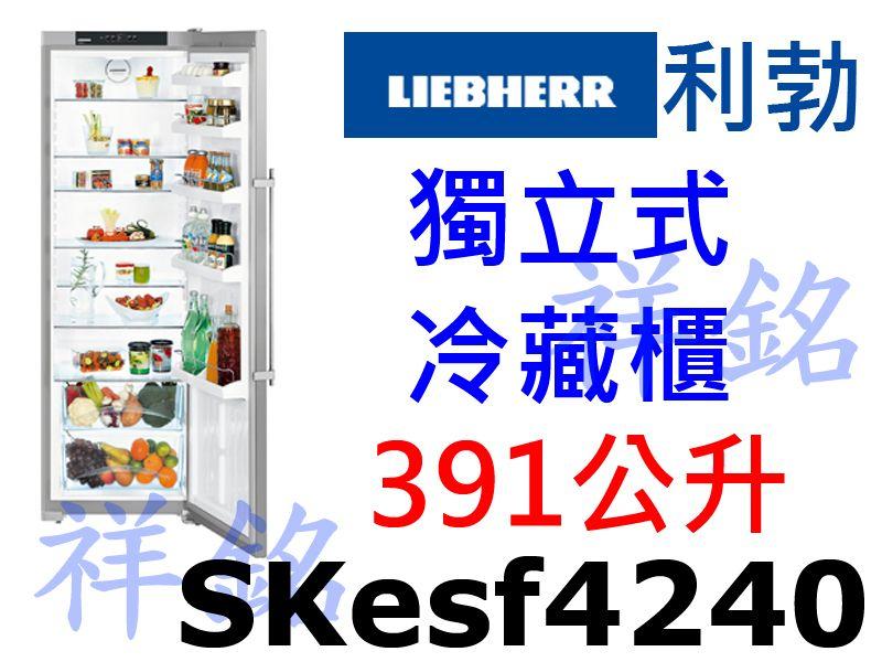 祥銘嘉儀德國LIEBHERR利勃獨立式冷藏冰箱39...
